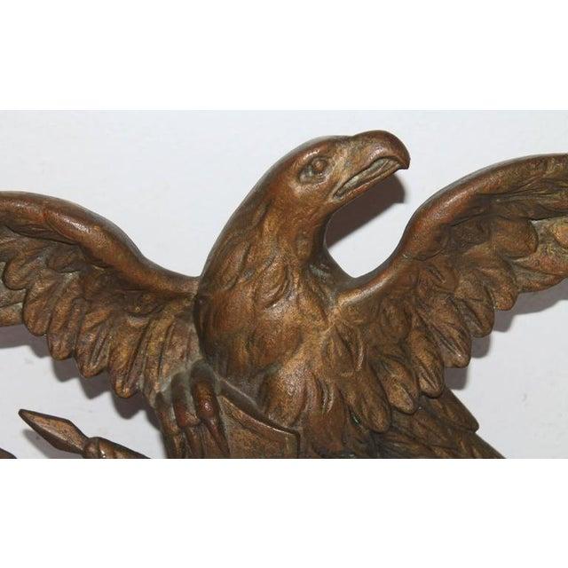 Image of Fantastic 19th Century Gilded Bronze Eagle Statue