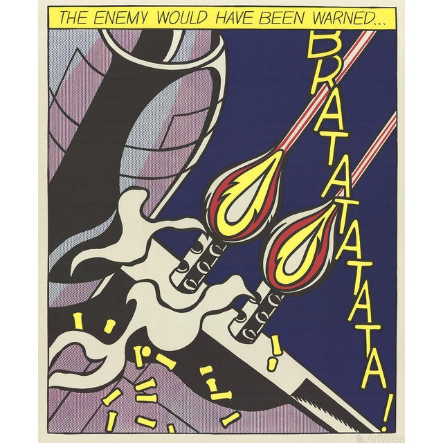 Roy Lichtenstein, The Enemy Would Have Been Warned (Panel 2) Poster - Image 1 of 2