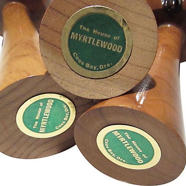 Mid-Century Stylized Wood Trees - Set of 3 - Image 3 of 6