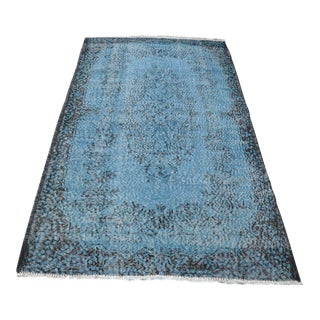 "Traditional Turkish Wool Rug - 4' x 6'9"""