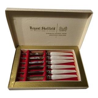 Vintage Sheffield Pearl Handled Steak Knives - Set of 6