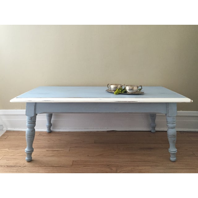 Vintage Hand Painted Coffee Table/Entryway Bench - Image 4 of 6