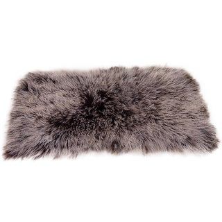 White and Brown Curled Haired Sheep Rug
