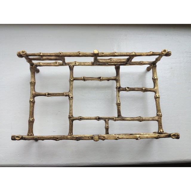 Gilded Bamboo Towel or Napkin Holder - Image 3 of 4