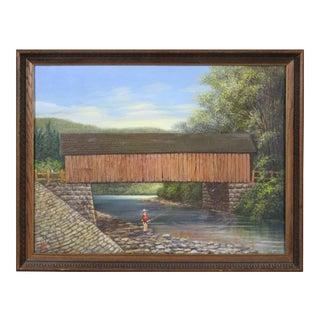 Albert Nemethy Putnam County Covered Bridge Painting