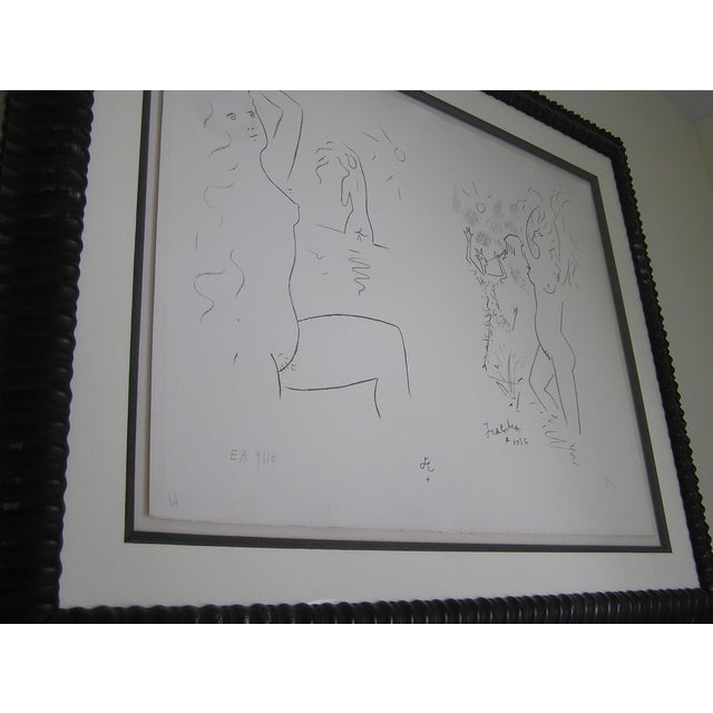 Image of Vintage Dancing with the Devil Charcoal Drawing