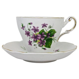 Bone China Cup & Saucer - A Pair