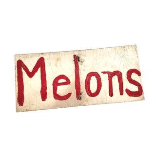 Folk Art Melons Sign