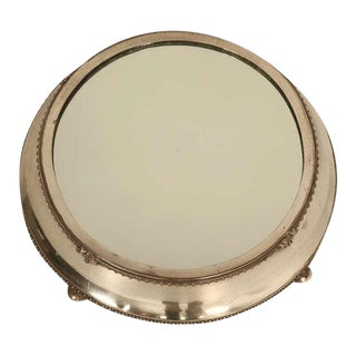 English Silver Plated Mirror Plateau