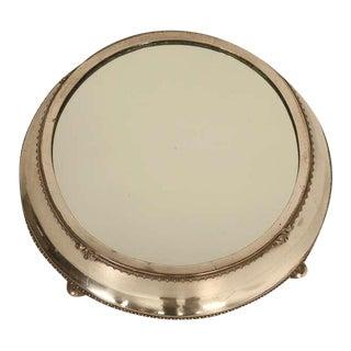 English Silver Plated Mirror Plateau