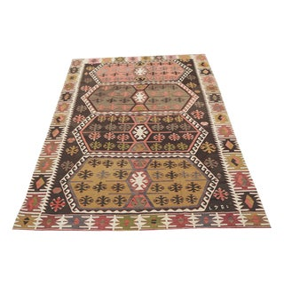 Fine Antique Turkish Kilim Flatweave - 5′5″ × 7′1″