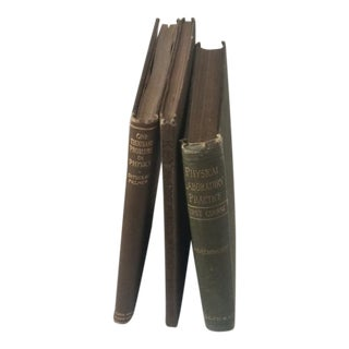 Antique Decorator Physics Books - Set of 3