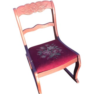 Rose Carved Sewing Rocker