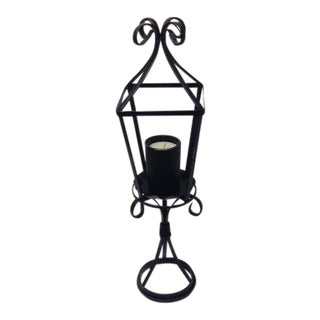 Black Wrought Iron Candle Lantern Centerpiece
