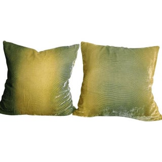 Ombre Silk Velvet Pillows - A Pair