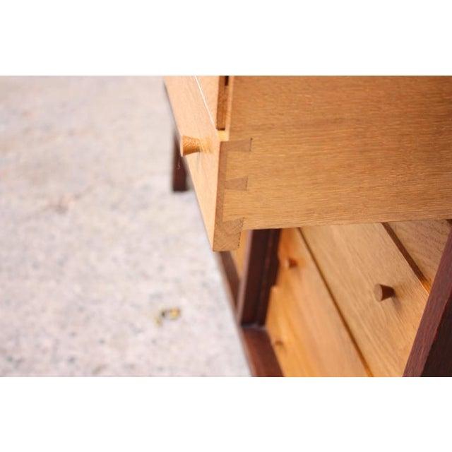 Danish Cabinet Maker Custom Oak Sideboard - Image 6 of 11