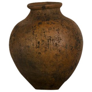 Lovely Hand Made Terra Cotta Urn with a Beautiful Patina and Shape from Italy c.1885.