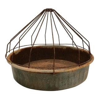 Vintage Farmhouse Domed Galvanized Metal Chicken Feeder