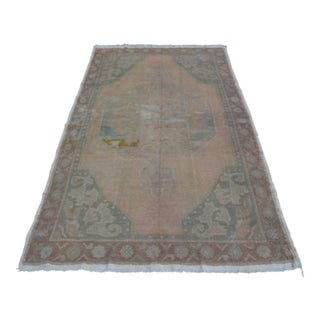Turkish Handmade Rug - 4′3″ × 7′8″