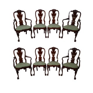 Kindel Winterthur Philadelphia Claw Foot Dining Chairs - S/8
