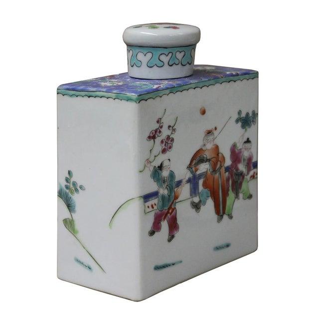 Chinese Colorful Porcelain Tea Jar - Image 2 of 6