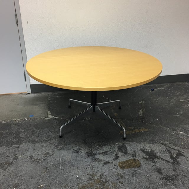 Herman Miller Eames Round Ash Dining Table - Image 2 of 8