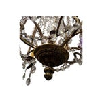 Image of Crystal & Brass 4-Arm Chandelier