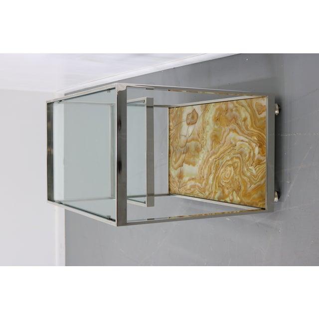 Mid-Century Chrome Glass & Onyx Bar Cart - Image 8 of 8