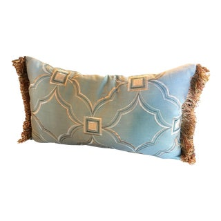 "Custom Decorative ""Mosaico Blue"" Lumbar Pillow"