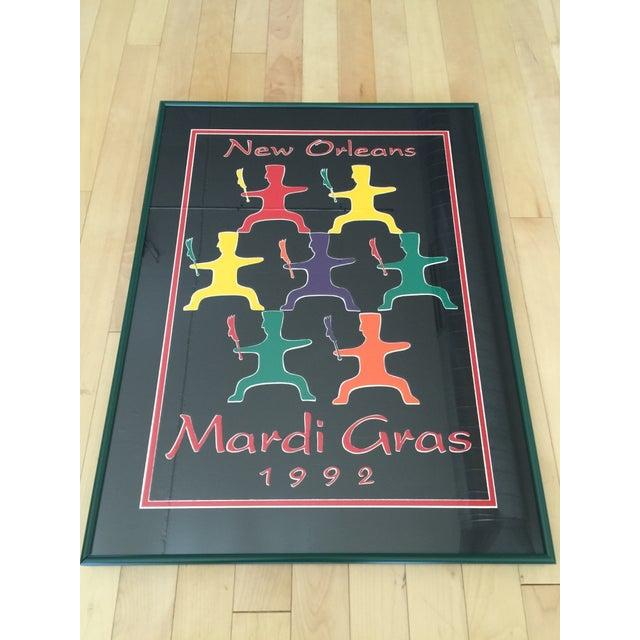 1992 Mardi Gras Poster - Framed - Image 2 of 3