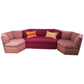 Vintage Reupholstered Milo Baughman Five-Piece Sectional Sofa by Thayer Coggin