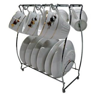 Regency Cups & Saucers with Hanger - Set of 6