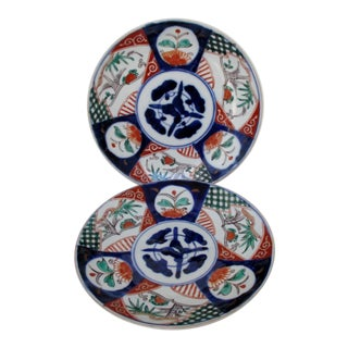 Hand-Painted Imari Plates - A Pair