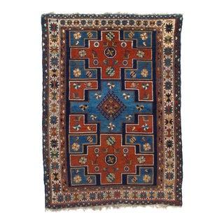 "Pasargad NY Antique Russian Kazak Lamb Wool Rug - 4'2"" x 5'9"""