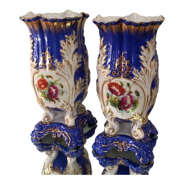Antique Old Paris Porcelain Rococo Vases - A Pair - Image 1 of 5