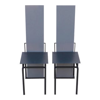 Nemo Editions Memphis Era Rietveld Inspired Regal Chairs 1985