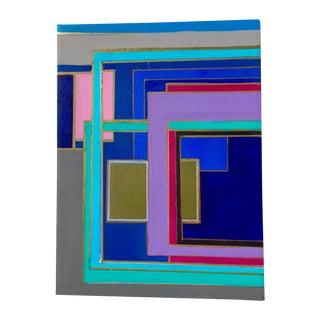 Bryan Boomershine 'Modern Block Series' Painting