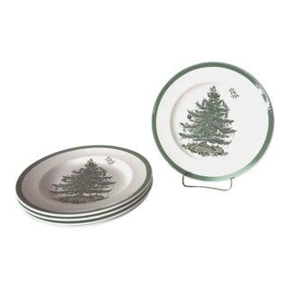 Spode Christmas Tree Salad Plates - Set of 5