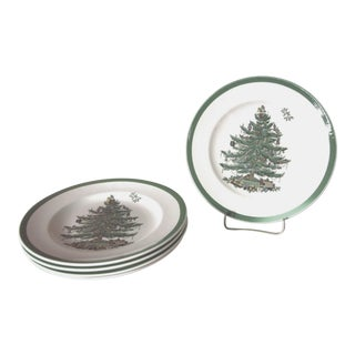 Spode Christmas Tree Salad Plates - Set of 5