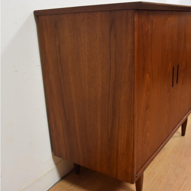 Mid-Century Modern Walnut Bar Cabinet - Image 4 of 8