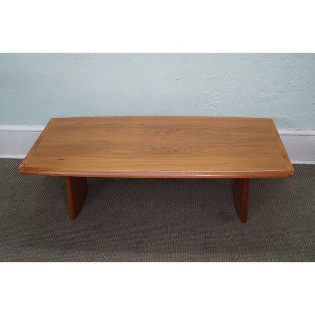 Danish modern teak coffee table chairish Modern teak coffee table