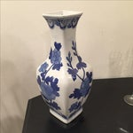 Image of Blue and White Chinoiserie Vase