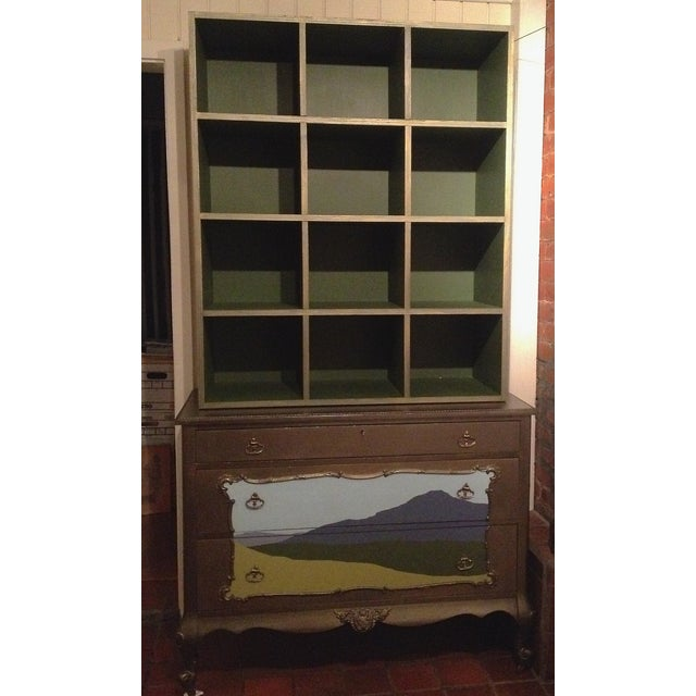 Metallic and Green Cubby Shelf Unit - Image 6 of 6