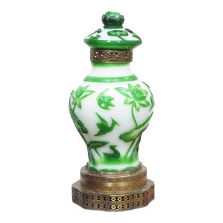 19TH CENTURY PEKING GLASS VASES AS LAMPS