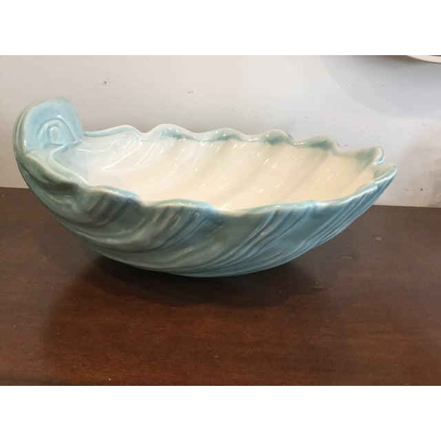 Image of Portuguese Aqua Ceramic Bowl