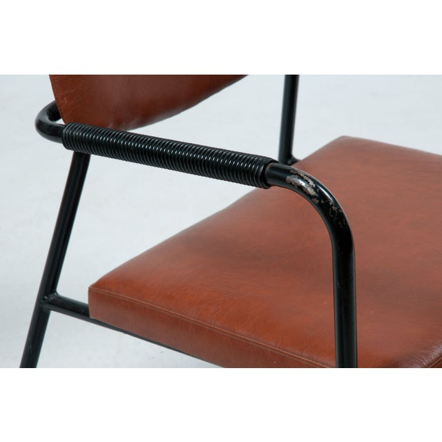 1950s Leather Armchairs - A Pair - Image 5 of 7