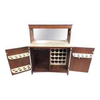 Vintage Modern Walnut Dry Bar Cabinet