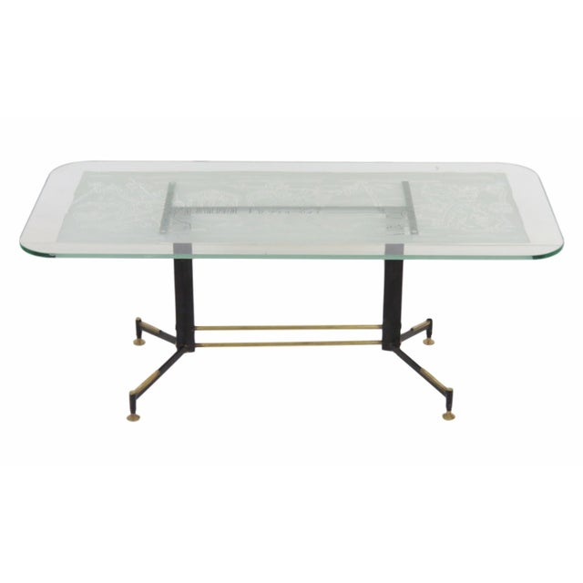 Italian Modern Classic Etched Coffee Table Chairish