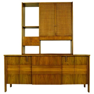 Dale Ford Walnut and Cane Sideboard by John Widdicomb