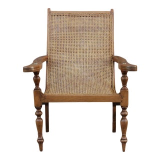 Antique Cane Plantation Chair